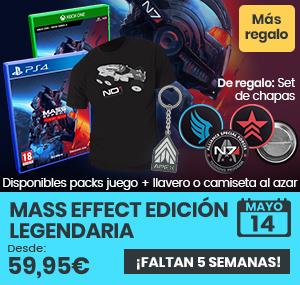 xtralife | Comprar Mass Effect Edición Legendaria - Complete Edition, Pack + Camiseta Talla L, Pack + Camiseta Talla M, Pack Llavero, PS4, Xbox One, Xbox Series.