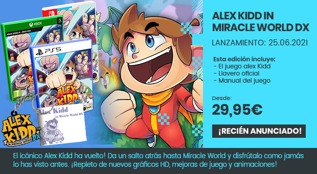 xtralife | Comprar Alex Kidd in Miracle World Dx - Estándar, PS4, PS5, Switch, Xbox One, Xbox Series.