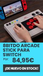 xtralife | Comprar Arcade Stick para Nintendo Switch 8Bitdo - Switch, PC, Fightsticks.