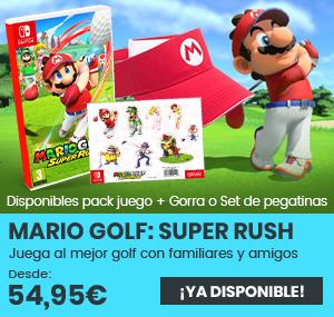 xtralife   Comprar Mario Golf Super Rush - Estándar, Pack + Gorra Deportiva, Pack Stickers, Gorra, Switch