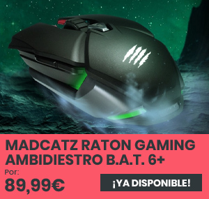 xtralife   Comprar Raton Gaming Ambidiestro B.A.T. 6+ Negro - PC, Ratones
