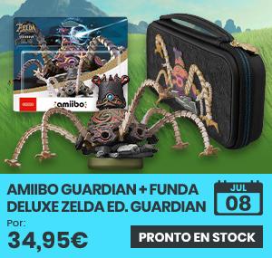 xtralife   Reservar Pack Figura Amiibo Guardian (Serie Zelda) + Funda Deluxe The Legend of Zelda Edición Guardián