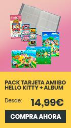 xtralife | Reservar Pack 6 Tarjetas amiibo Animal Crossing/Hello Kitty + Album para Cartas Coleccionista + Set de Postales Animal Crossing
